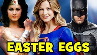 SUPERGIRL: Top 17 Season 2 Easter Eggs - Wonder Woman, Batman, Superman