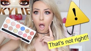 WARNING! My KYLIE ROYAL PEACH PALETTE SMELLS LIKE CHEMICALS!! ⚠️