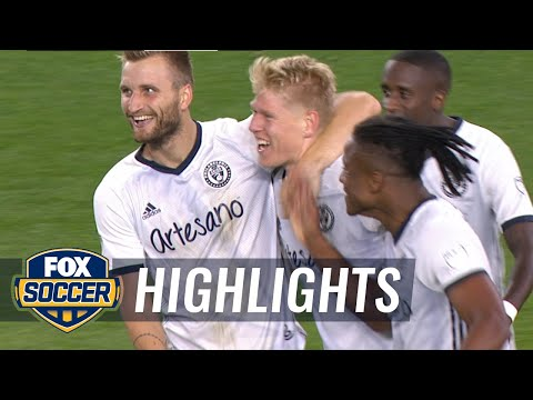 Glesnes drills free kick from 35 yards out for insane Philadelphia Union goal | 2020 MLS Highlights