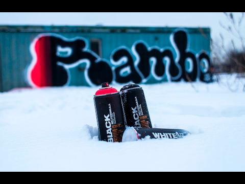 Montana Cans BLACK x Rambo  -  Moscow 2017