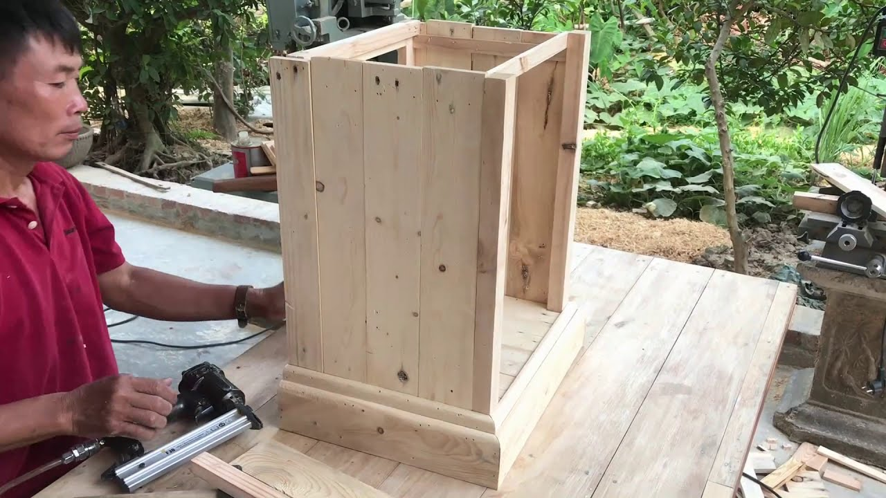 Innovative Woodworking Ideas From Wood Scraps //  Extremely Unique Ways To Hide Outdoor Bins - DIY!