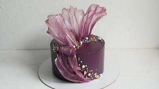 Декор из рисовой бумаги Как стильно и бюджетно украсить торт Шоколадно кокосовый крем