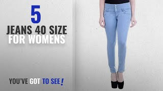 Top 10 Jeans 40 Size For Womens [2018]: FNocks Women Slim Fit Ankle Length Jeans (Size 26 - 40