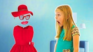 Amelia and Avelina and the invisibility cloak. Funny invisible girl magic adventure.