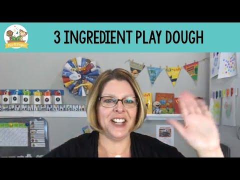 3 Ingredient No-Cook Play Dough