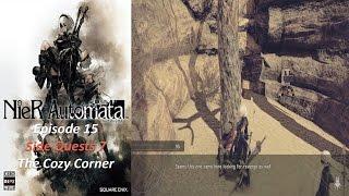Nier: Automata - Episode 15 - Side Quests Part 7 Resistance Disappearance - The Cozy Corner