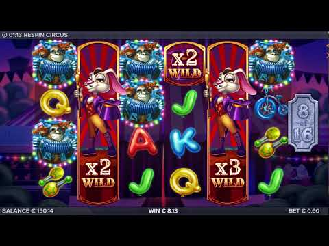 Respin Circus Online Casino Slot Free Spins Bonus Game Huge Win! - 동영상