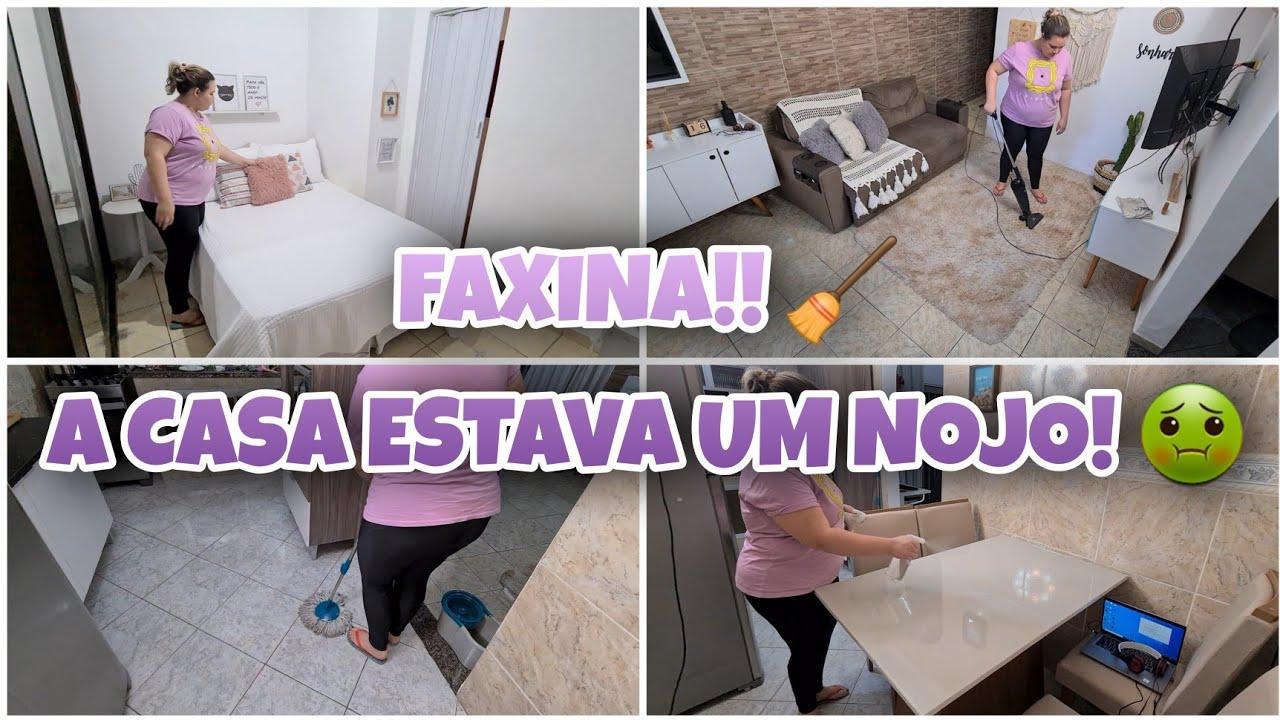 FAXINA   FIQUEI 7 DIAS SEM ARRUMAR A CASA   DIA DE FAXINA + ALMOÇO DEU ERRADO   Lu Ferrari