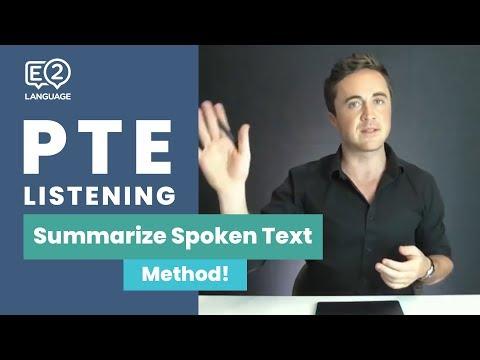 PTE Listening: Summarize Spoken Text   METHOD With Jay!