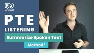 PTE Listening: Summarize Spoken Text | METHOD with Jay!