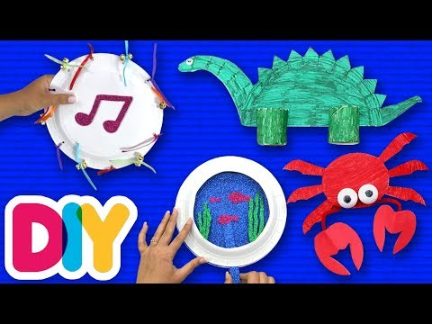 4 Easy PAPER PLATE CRAFTS you can do on a rainy day | Fast-n-Easy | DIY Arts & Crafts for Parents
