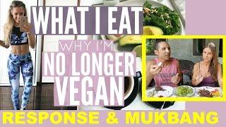 SARAHS DAY Why I'm No Longer Vegan | RESPONSE + MUKBANG