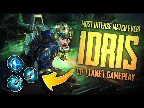 Vainglory Gameplay - Episode 273: MOST INTENSE MATCH EVER!! Idris |CP| Lane Gameplay [Update 2.0]