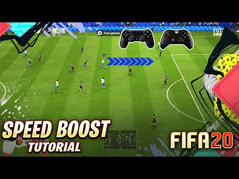 FIFA 20 PACE BOOST TUTORIAL - HOW TO RUN SUPER FAST IN FIFA 20 / BEST SPEED BOOST TRICK