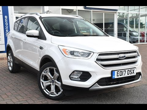 used ford kuga 1 5 tdci titanium 5dr 2wd platinum white 2017 youtube. Black Bedroom Furniture Sets. Home Design Ideas