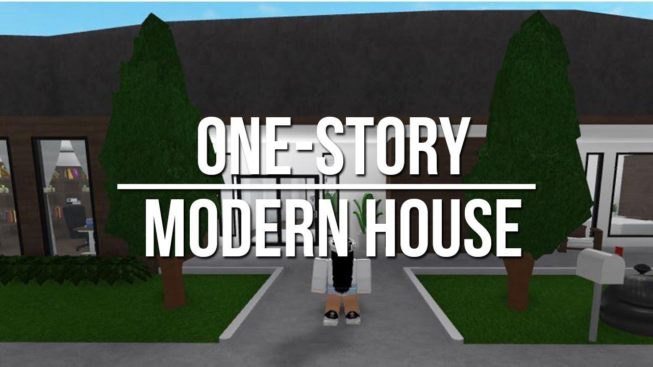 Roblox Welcome To Bloxburg One Story Modern House 48k
