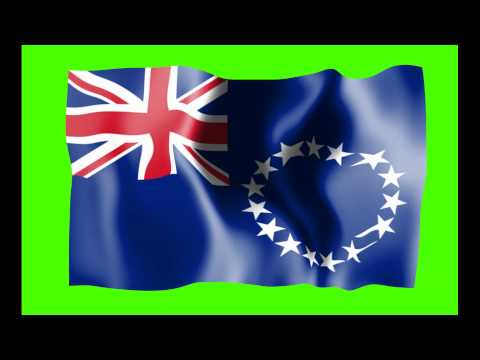 Cook Island Waving Flag Green Screen Animation - Free Royalty Footage