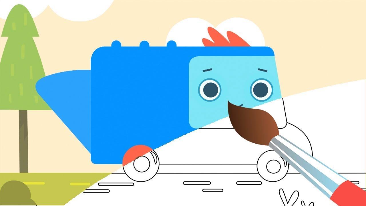 раскраска пик мусор в лесу машинка мусоровоз волшебный грузовичок пик мультик