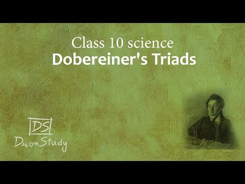 Dobereiner's Triads | Periodic Classification of Elements | CBSE Class 10th X Science