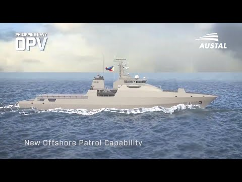 Austal - Philippines Navy Offshore Patrol Vessel (OPV) Simulation [1080p]