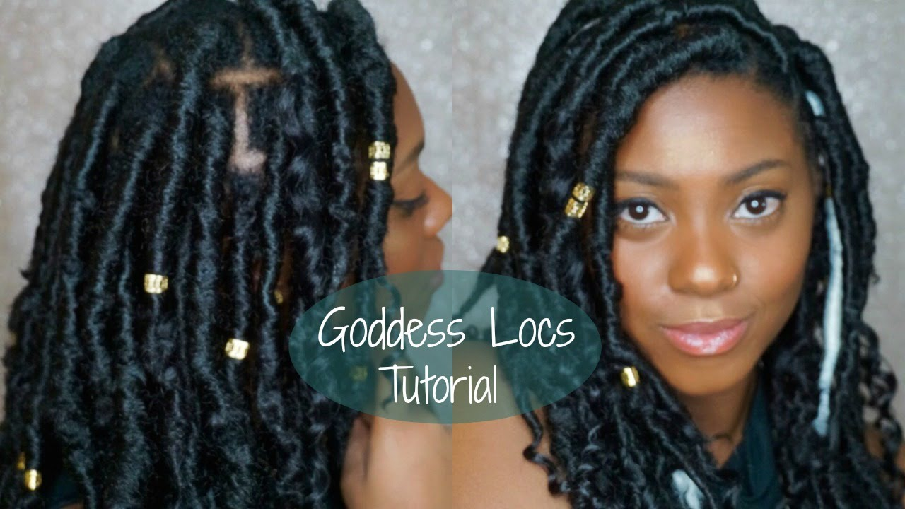Short Faux Goddess Locs Quick And Easy Tutorial