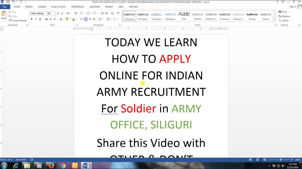 How to fill join Indian army form YouTube – Army Form
