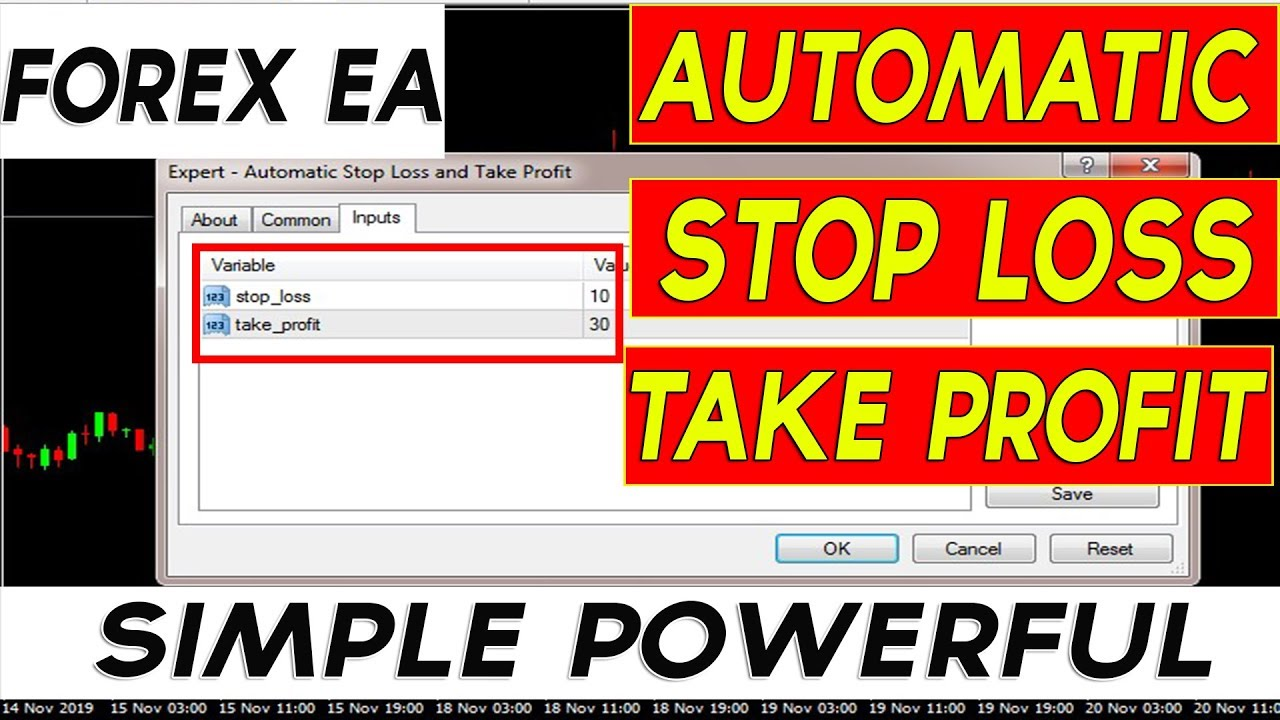 Forex Ea Automatic Stop Loss And Take Profit In Mt4 Youtube