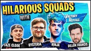 Hysteria | Fortnite - Hilarious Squads with Ninja, FaZe Cloak, and Dillon Francis
