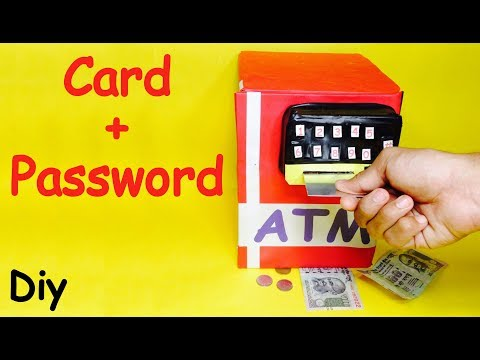 How to Make Piggy Bank ATM Machine at Home | DIY Craft for Kids in hindi