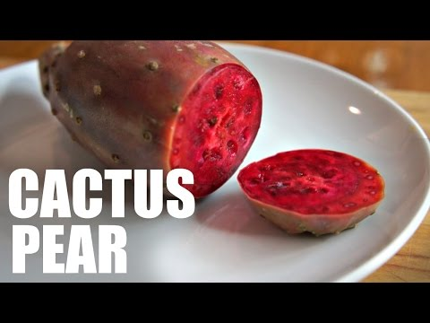 CACTUS PEAR | Prickly Pear Taste Test - FRUITY FRUITS