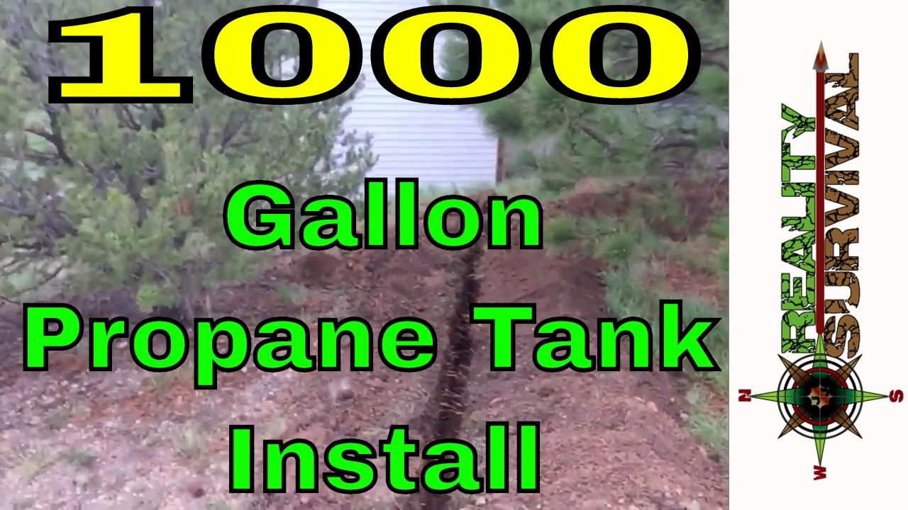 Reality survival ranch episode 1 1000 gallon propane tank install