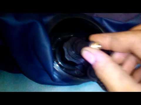Как надуть матрас INTEX автомобильным насосом