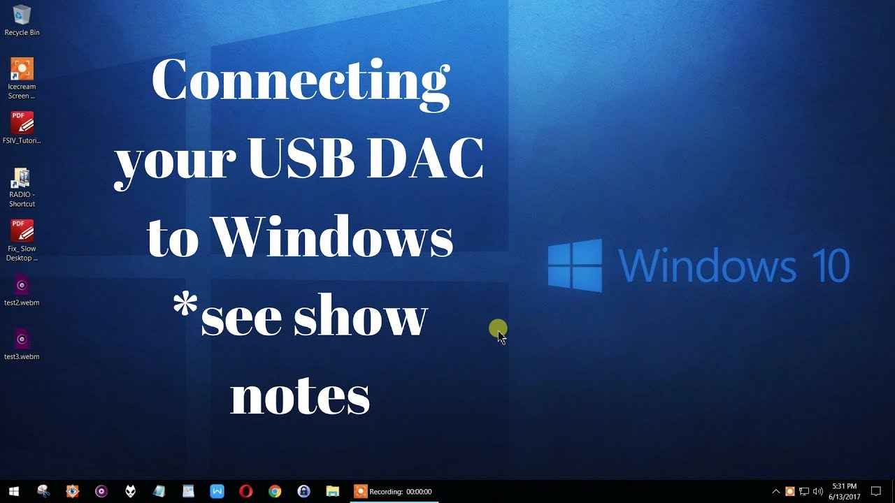 Connecting your USB DAC to Windows 10 and 7