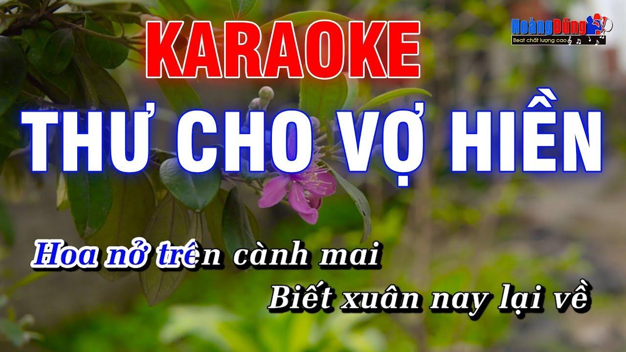 Thư Cho Vợ Hiền Karaoke Nhạc Sống Rumba – Hoàng Dũng Karaoke