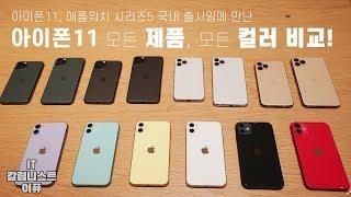 아이폰11, 11 프로 모든 제품, 모든 컬러 한눈에 비교해보기! 그리고 국내 출시 현장! (iPhone 11, 11 Pro All Color) [4K]