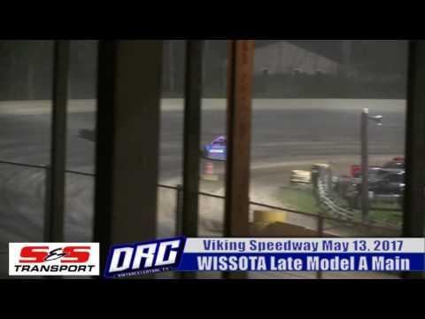 Viking Speedway 5/13/17 WISSOTA Late A Main opening laps