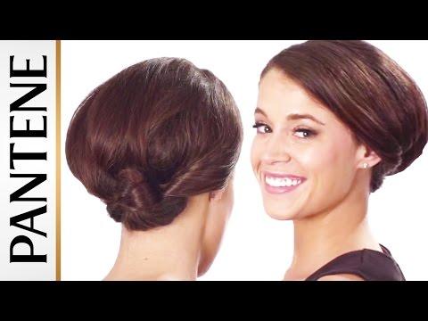 Dễ dàng Updos cho tóc ngắn: Twisted Low Búi tóc
