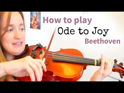 Beethoven - Ode to Joy (Simple Version) | Easy Beginners Song | Violin Tutorial