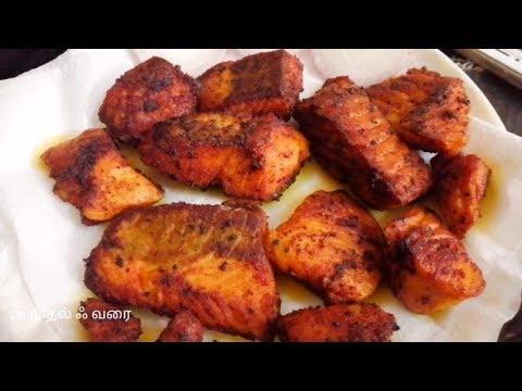 Salmon Fish Fry In Tamil | Salmon Pan Fry | Indian Style Salmon Fry Recipe