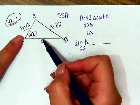 Law of Sines Ambigous Case Notes