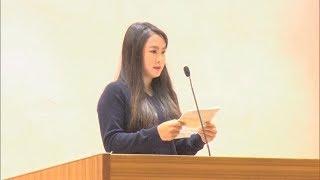ゴルフ河本プロが母校で下部ツアー賞金女王報告会・愛媛新聞