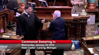 Senator Jim Marleau takes his Oath of Office in the 98th Legislature.
