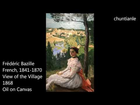 Famous Painting: Frédéric Bazille - View Of The Village