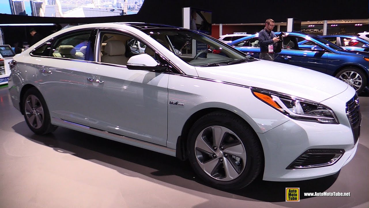 hyundai sonata 2015 exterior. 2016 hyundai sonata hybrid exterior and interior walkaround debut at 2015 detroit auto show youtube