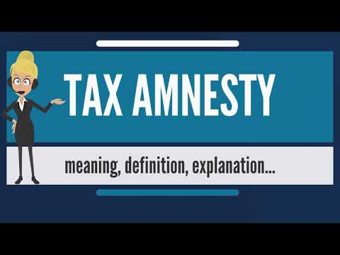 What is TAX AMNESTY? What does TAX AMNESTY mean? TAX AMNESTY meaning & explanation