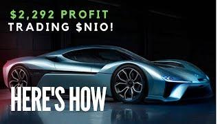 $2292 Profit trading stock NIO!