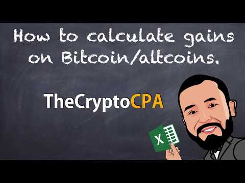 Bitcoin / altcoin tax 101 - Capital gains and first-in first-out