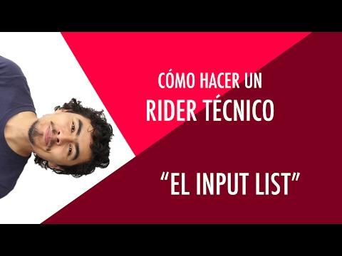 Cómo hacer un rider: El input list