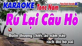 Ru Lại Câu Hò ( Tone Nam ) - Karaoke Nhạc Sống Tùng Bách