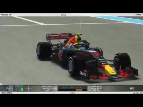 rFactor 2 - F1 2018 Mod by ASR - Aston Martin RedBull - driving with the  Halo